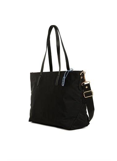 Bagmori  Kadın Askılı Saten Büyük Çanta M000006137 Siyah